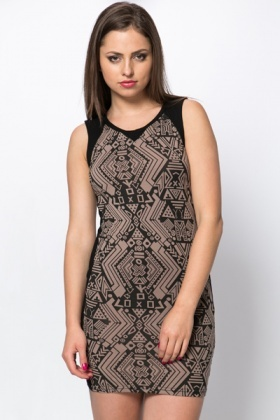 Tribal Panel Bodycon Dress