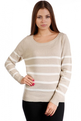 Stripy Knitted Jumper