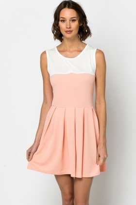 Two Tone Skater Dress