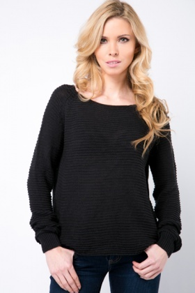Basic Long Sleeve Knit Pullover