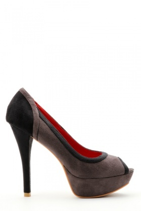 Two Tone Peep Toe Shoes
