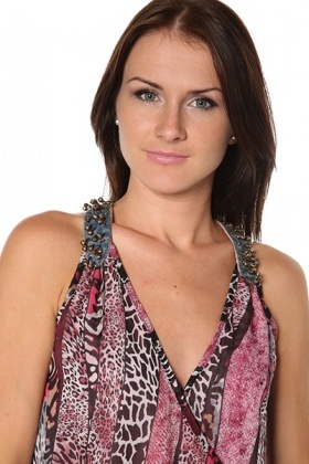 Spike Beads Embellished Leopard Print Top