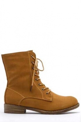 Side Zipped Biker Boots