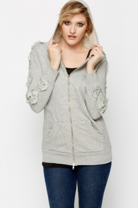 Floral Pearl Applique Jacket