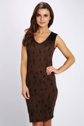 Lady Print Fleece Dress