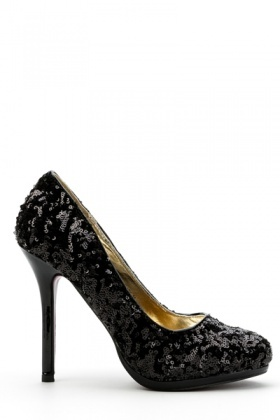 Sequined Court Shoes