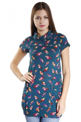 Colourful Birds Fleece Dress
