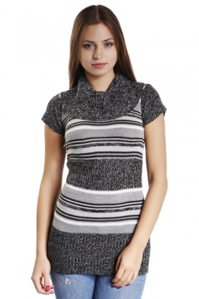Mix Knit Striped Jumper