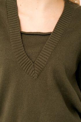 V-Neck Insert Jumper
