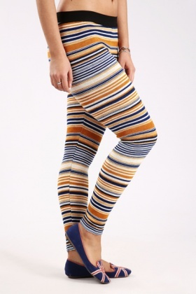 Multi Stripes Knit Leggings
