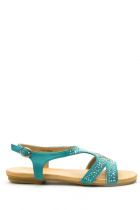 Diamante Studded Sandals
