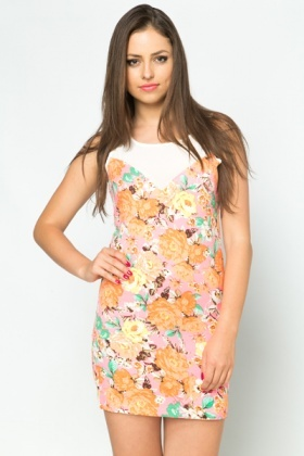 Sweetheart Floral Mini Dress