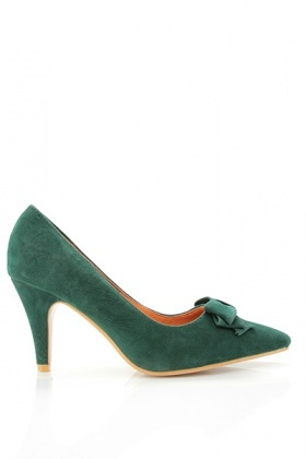 Point Toe Suedette Shoes