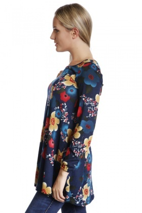 Colourful Flowers Fleece Tunic