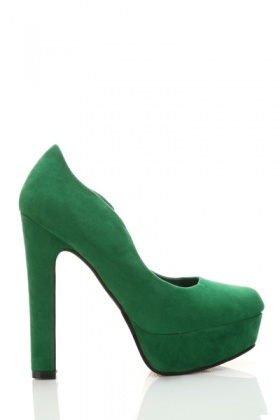 Velour Platform Court Shoes