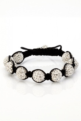 Crystal Disco Ball Shamballa Bracelet