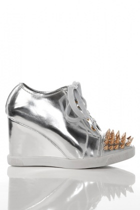 Spike Studs Toe Wedge Trainers