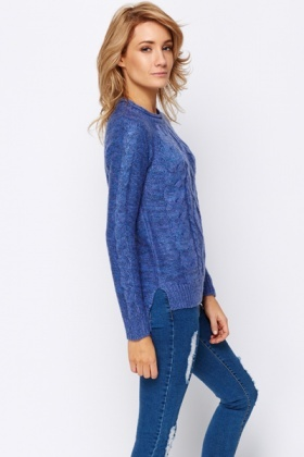 Cable Speckle Knit Jumper