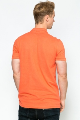 Basic Mens Orange Polo Shirt