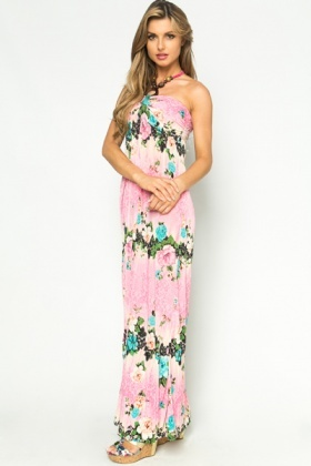 Tapestry Floral Mix Maxi Dress