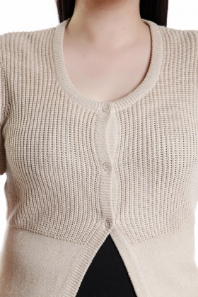 Metallic Fiber Mix Knitted Cardigan