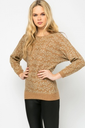 Metallic Graphic Pullover