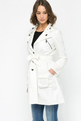 Zipper Front Coat