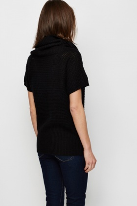 Perforated Roll Neck Jumper