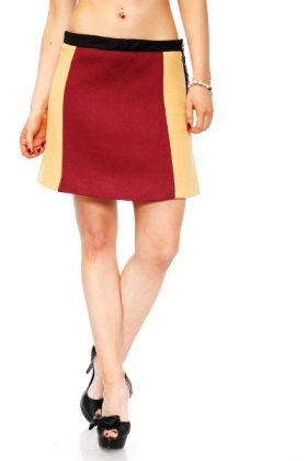 Block Colours Felt Skirt