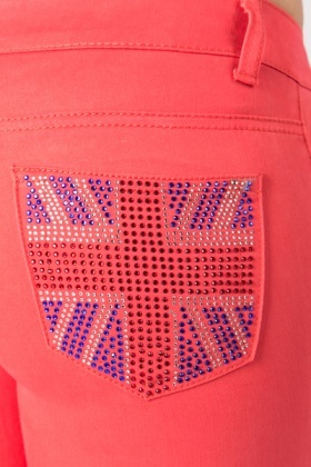 Encrusted Flag Back Pocket Trousers