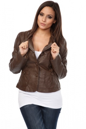 Storm Flaps Shoulders Faux Leather Jacket