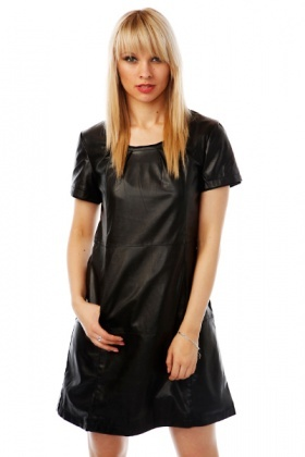 Faux Leather Smart Dress
