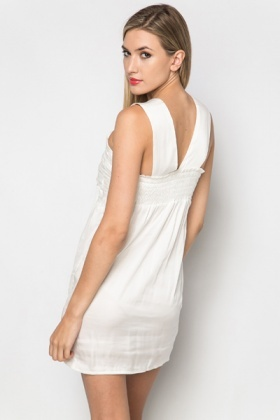 Ruched Silky Feel Dress