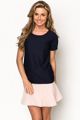 Textured Short Sleeve Top