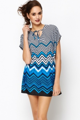 Zig Zag Tunic Dress
