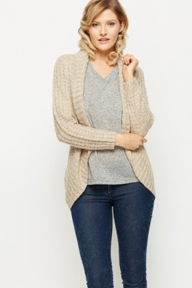 Mix Knit Speckle Cardigan