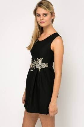 Embellished Waist Dress