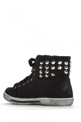 Studded Canvas Trainers