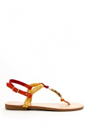 Intertwined T-Bar Flat Sandals