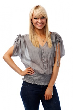Drawstring Shoulders Sheer Blouse