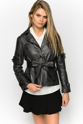 Zip Sleeve Glazed Jacket