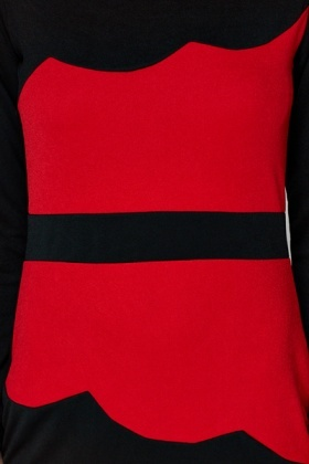 Wave Colourblock Bodycon Dress