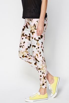Floral Pink Treggings
