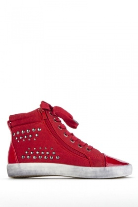 Studded Hi-Top Trainers