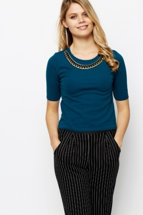 Collar Necklace Top