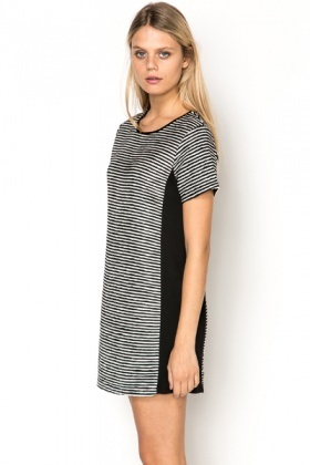 Mono Panel Stripe Dress