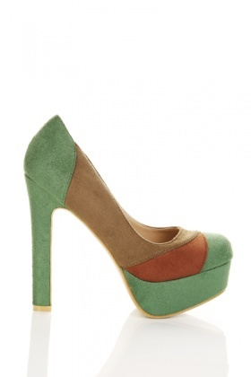 Contrast Colour Platform Shoes