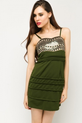 Sequin Bodice Bodycon Dress