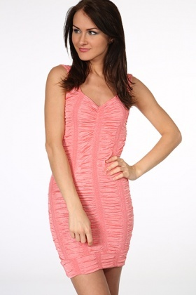 Shirred Effect Bodycon Vest Dress
