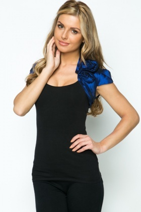 Rose Pleat Embellished Shrug